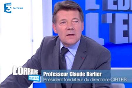 Claude Barlier l'invité de France3