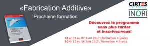 Formation «Fabrication Additive  pour le Développement Rapide de Produit»